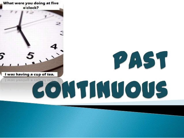 Past progressive and Past continuous