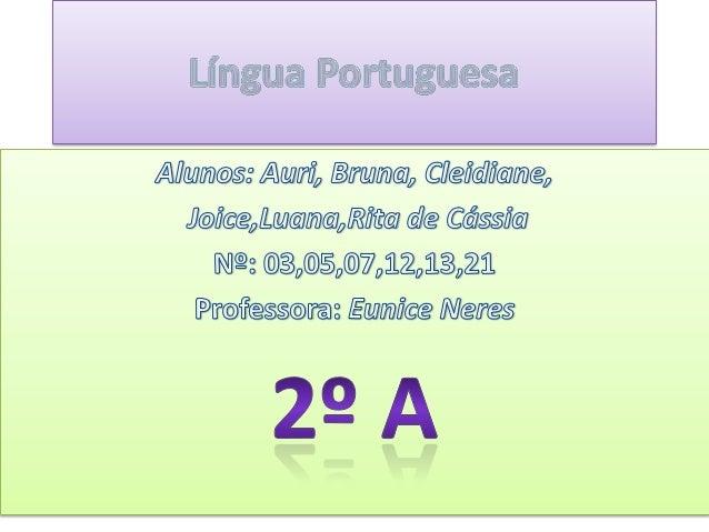 Trabalho de l. portuguesa