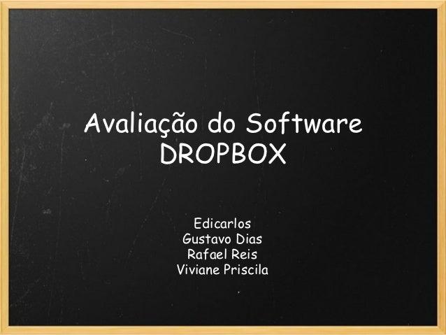 Avaliação do Software DROPBOX