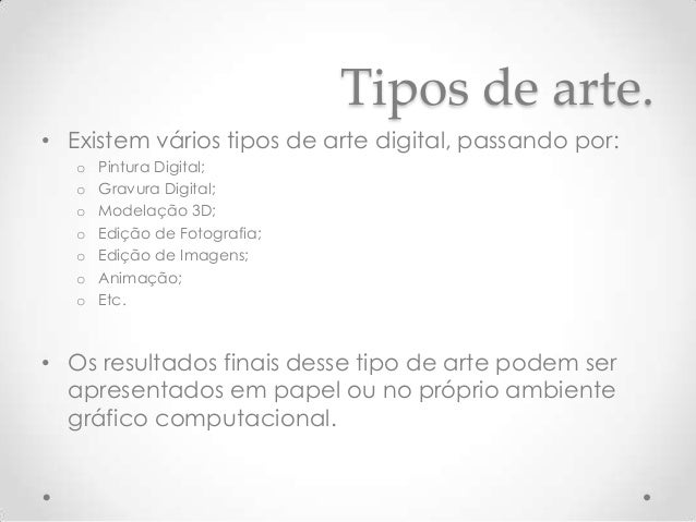 Arte digital for Tipos de arte arquitectonico