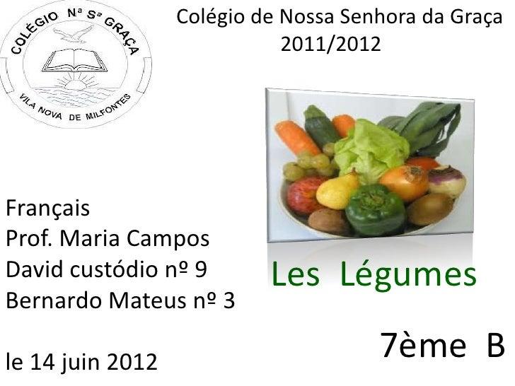 Les Légumes -  David  et Bernardo 7 B