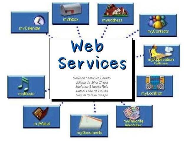 WebWebServicesServicesDeivison Lamonica BarretoJuliana da Silva CindraMarianna Siqueira ReisRafael Leite de FreitasRaquel ...