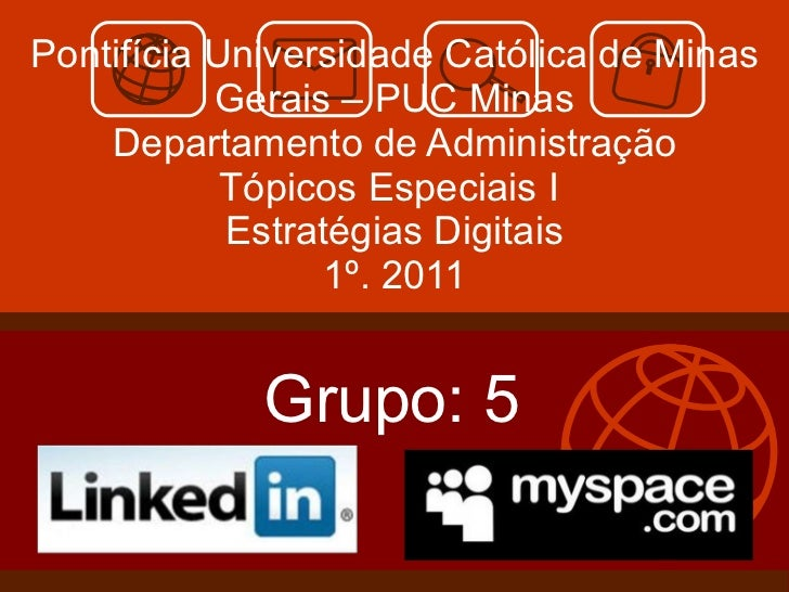 slide linked in e myspace