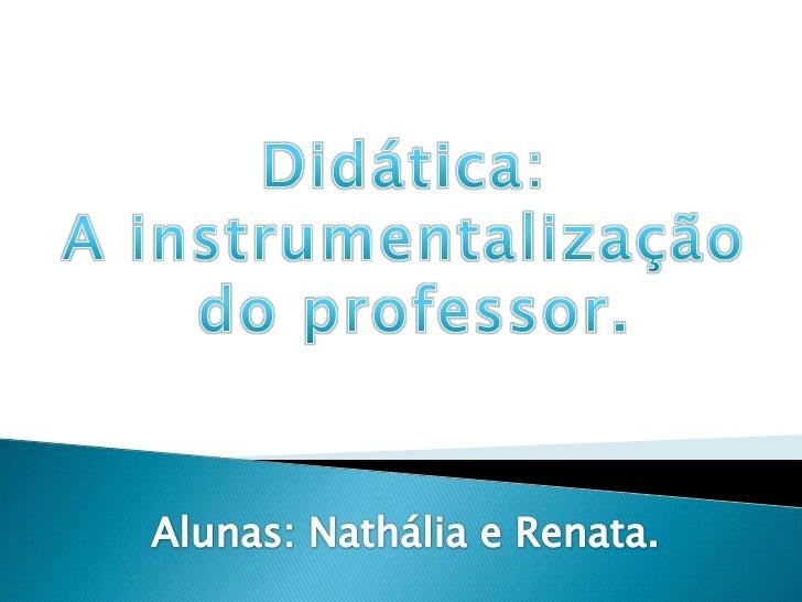 Didática: A Instrumentalização do Professor.