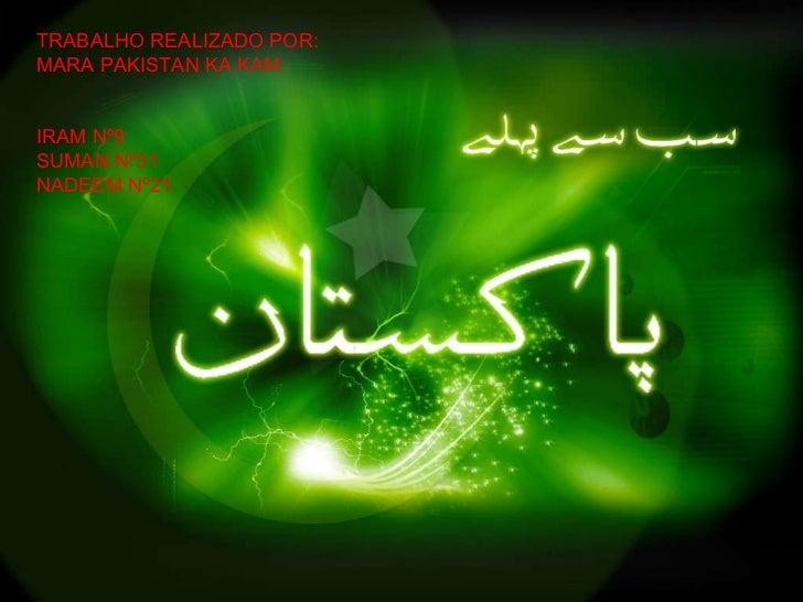 Trabalho sobre o Paquistão - Área de Projecto