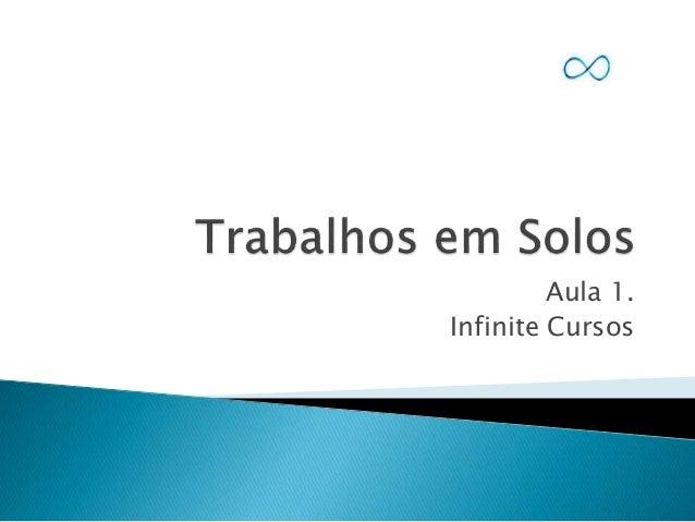 Aula 1. Infinite Cursos