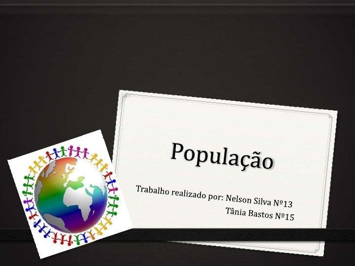 O que significa População?0 População é o conjunto de pessoas que residem num determinado território, que pode ser uma cid...