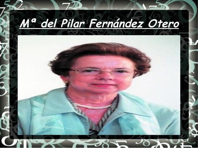 Mª del Pilar Fernández Otero