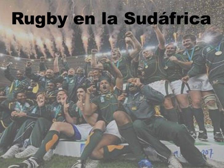 Rugby en la Sudáfrica
