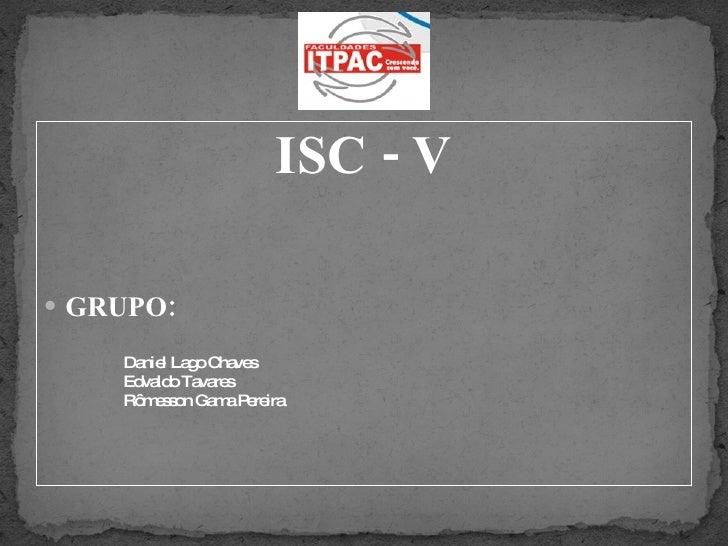 ISC V - ITPAC PORTO