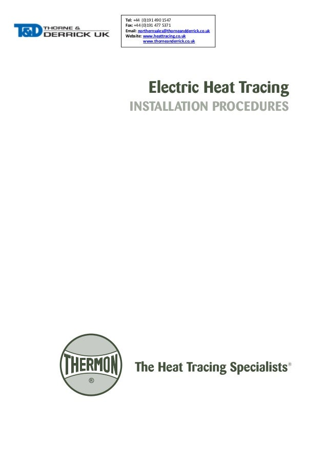 Trace Heating Series Constant Wattage Trace Heating Cables