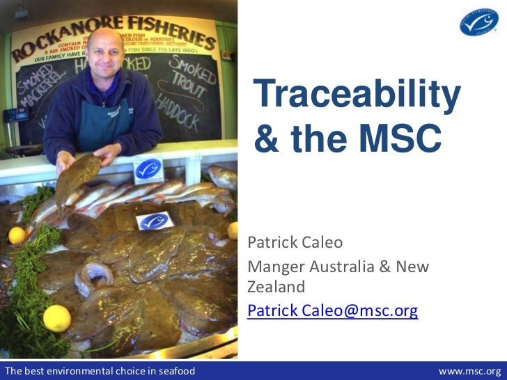 Traceability                                           & the MSC                                           Patrick Caleo  ...