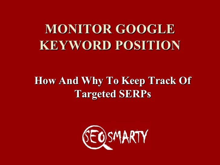 Track Google Position