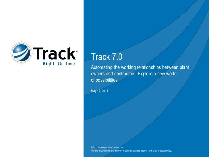 Track Software -- Track 7.0 discussion