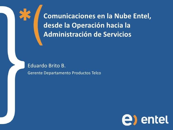 Comunicaciones en la Nube Entel