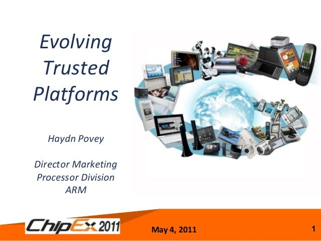 May 4, 2011 1 Evolving Trusted Platforms Haydn Povey Director Marketing Processor Division ARM