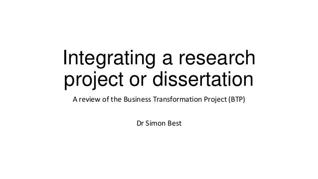 Dissertation research project