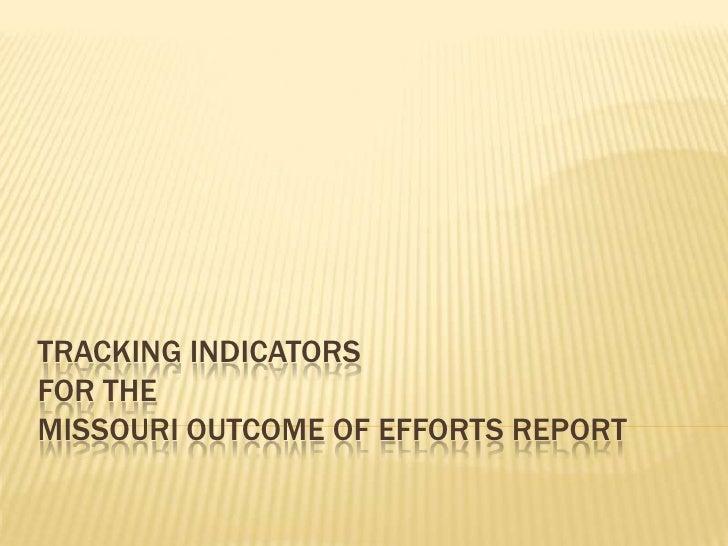 Tracking  Indicators  I  R  Croup