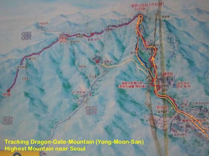 Tracking dragon gate-mountain (yong-moon-san) highest mountain near seoul korea