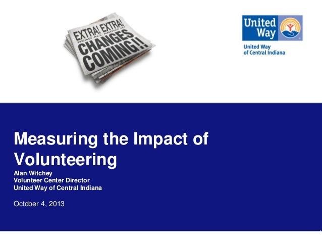 Tracking Volunteer Impact