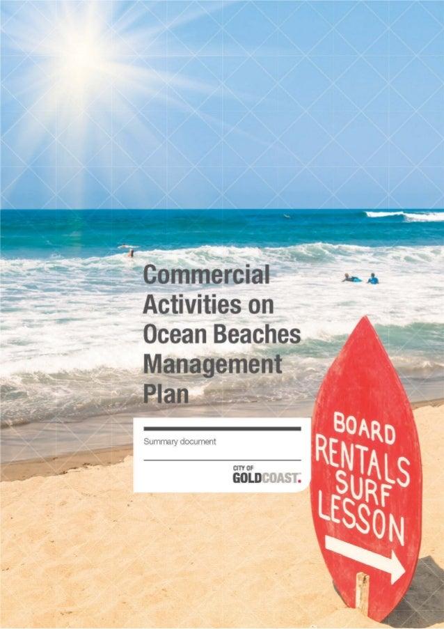 Commercial Activities on Ocean Beaches - Summary document - 17 Mar 2014
