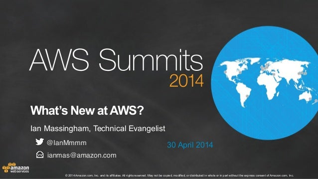 AWS Summit London 2014 | Partners & Solutions Track | What's New at AWS?