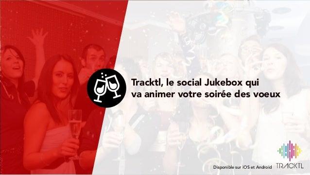 Espace de personnalisations L'interface est entièrement personnalisable selon certaines zones Tracktl, le social Jukebox q...