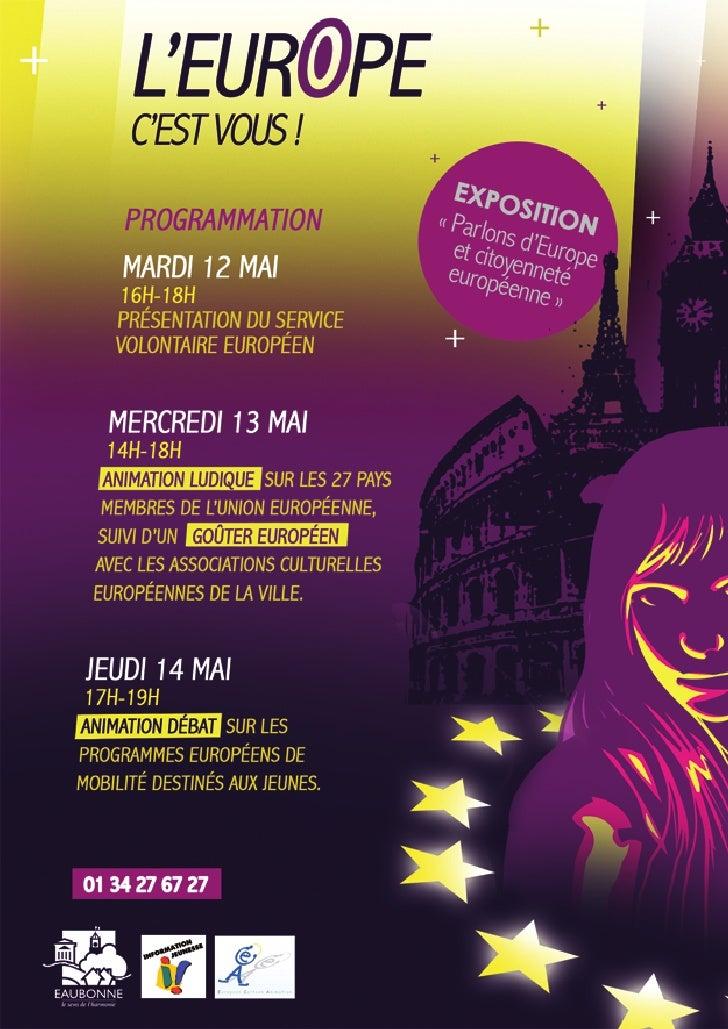 L'Europe c'est vous ! BIJ Eaubonne 12-14 Mai 2009