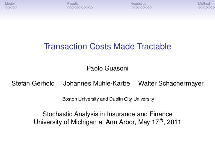 Model                 Results                       Heuristics            Method             Transaction Costs Made Tracta...
