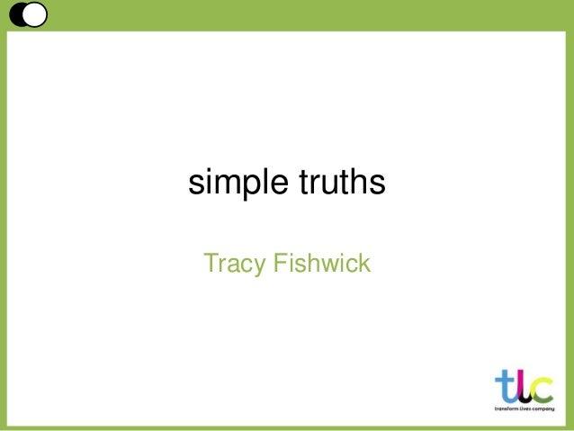 Simple Truths: Tracy Fishwick