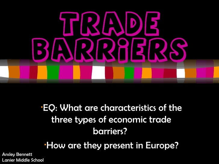 Trade barriers 2