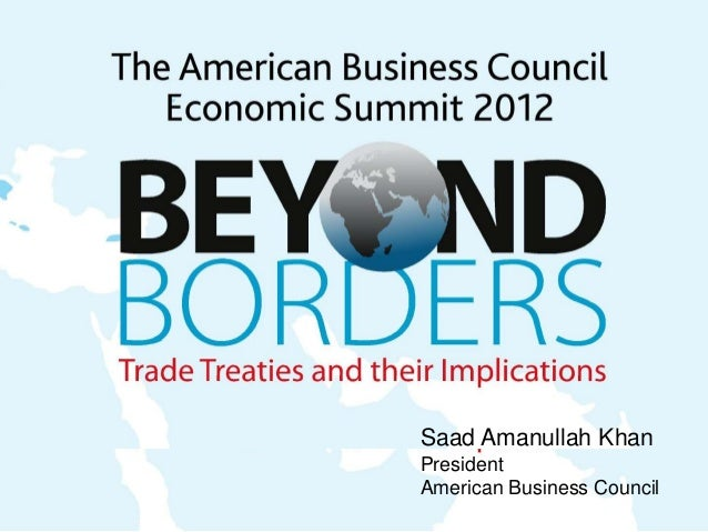 Saad Amanullah Khan President American Business Council