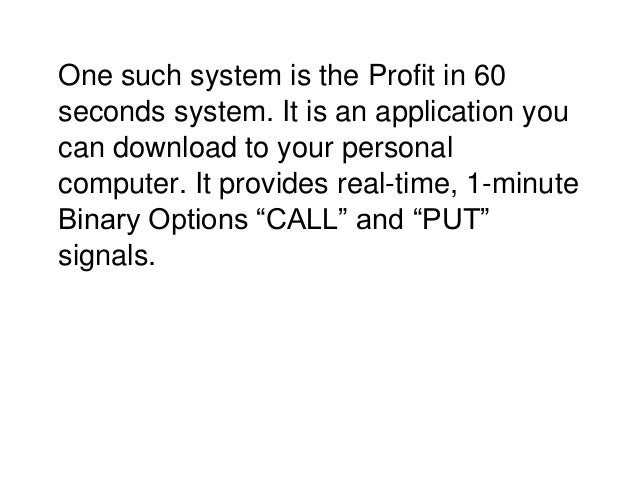 60 seconds binary options review