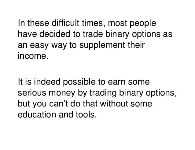 Trade binary options success