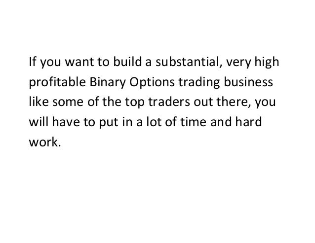Binary options trading works
