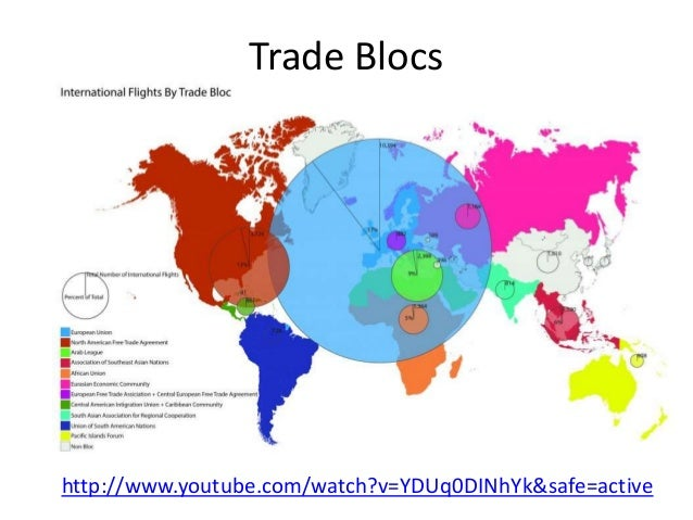 global trading blocs essay Trading blocs can be defined as a group of countries which engage in international trade together, and are usually related through a free trade agreement or other.
