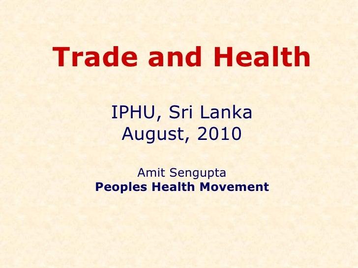 Trade Health  I P H U  Srilanka