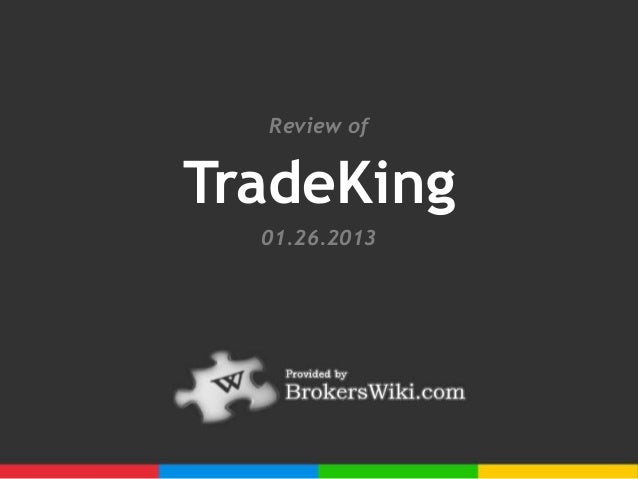 Review ofTradeKing  01.26.2013