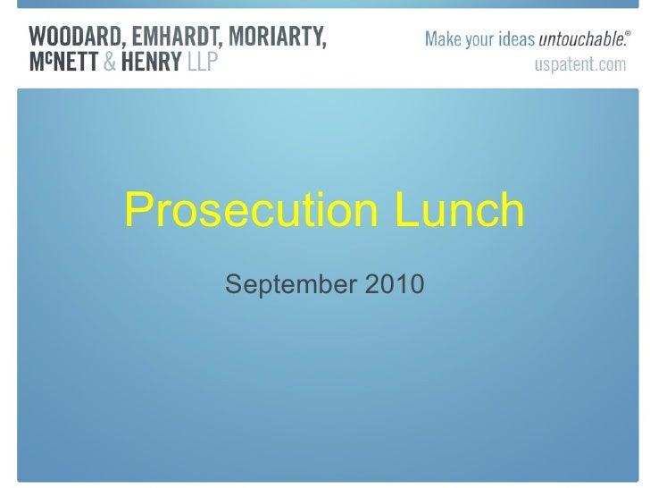 Trademark September 2010 Prosecution Lunch