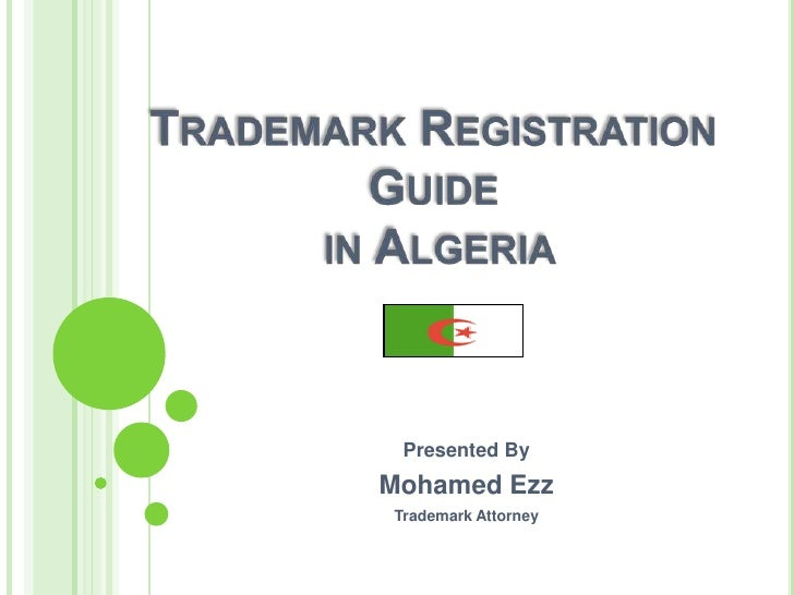 Presented By Mohamed Ezz Trademark Attorney