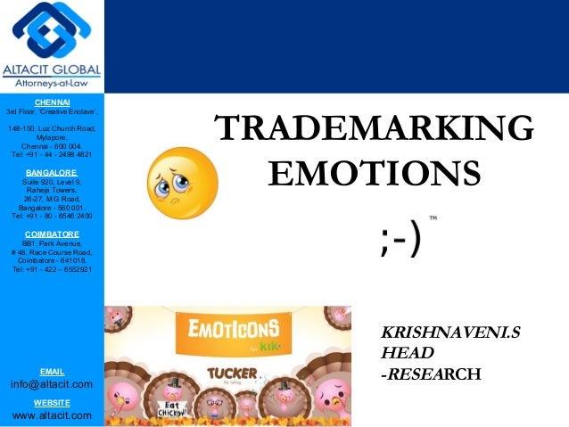 Trademarking emotions