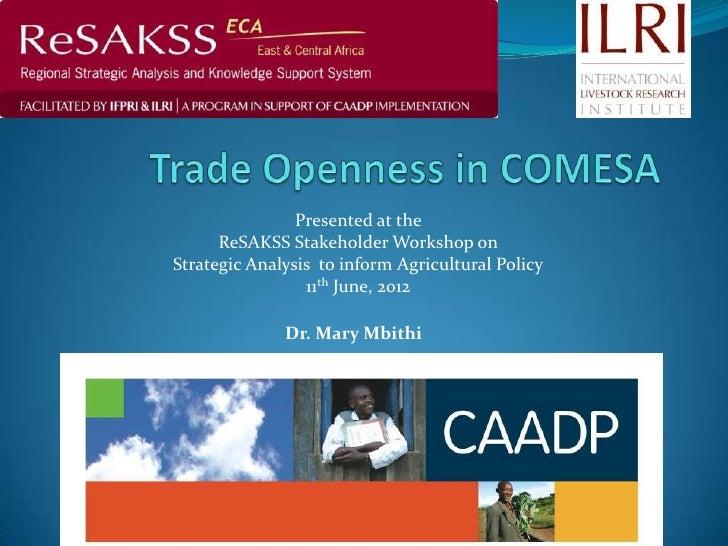 Trade openness in comesa  presentation- june 2012