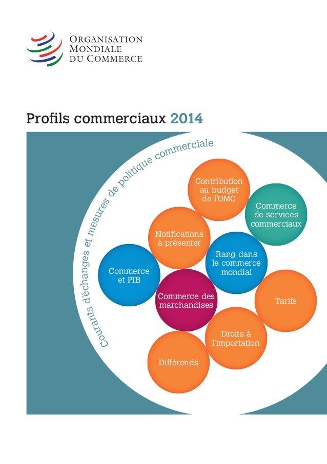 Profils commerciaux 2014 Courantsd'échangesetmesuresde p olitique commerciale Commerce des marchandises Droits à l'importa...