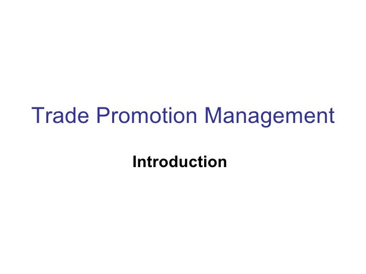 Trade Promotion Management Introduction