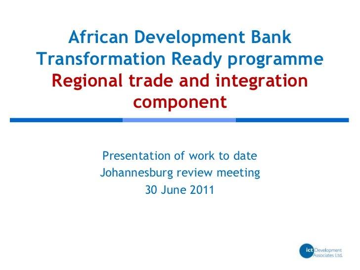 eTransform Africa: Regional Trade and Integration