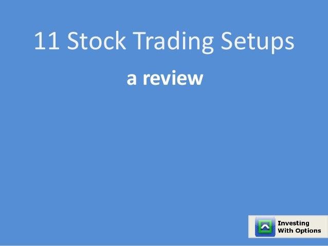 Options trading setups