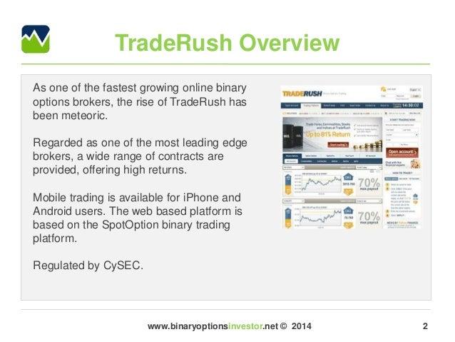 Traderush binary options reviews