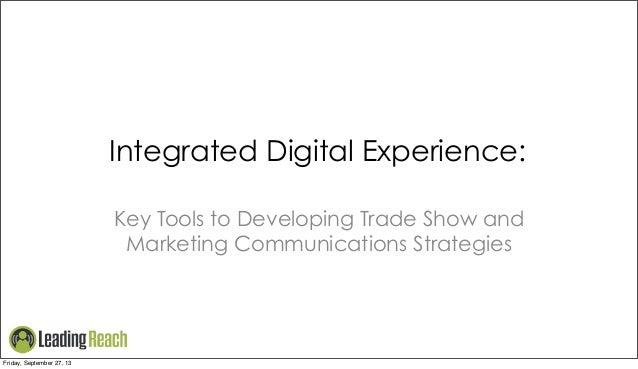 Trade Show Marketing Tactics for 2013 - Technographics and Digital Body Language
