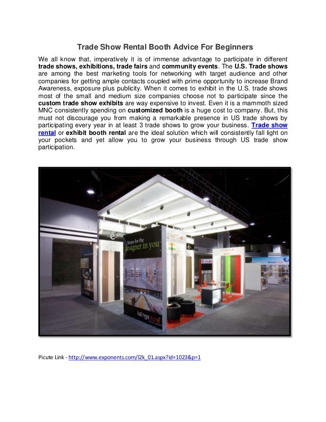 Trade show rental booth advice for beginners