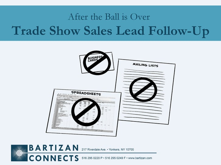 After the Ball is Over   Trade Show Sales Lead Follow-Up